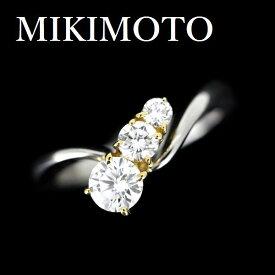 ミキモト ダイヤモンド 0.342ct F-VVS2-VG リング Pt950/K18【中古】