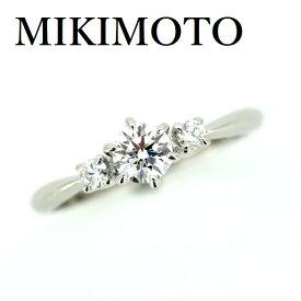 ミキモト ダイヤモンド 0.27ct E-VS1-VG リング Pt950【中古】