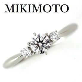 ミキモト ダイヤモンド 0.30ct D-VVS2-3EX リング Pt950【中古】
