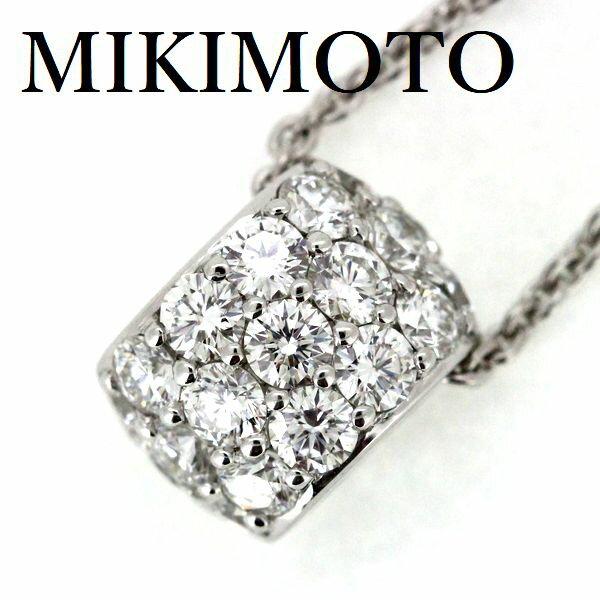 ミキモト パヴェ ダイヤモンド 0.72ct ネックレス K18WG【中古】