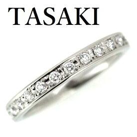 TASAKI ダイヤモンド 0.14ct リング ハーフエタニティ Pt950 5号 2.4mm【中古】