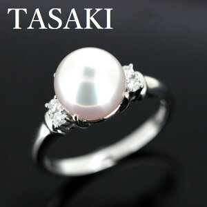 田崎真珠 TASAKI アコヤ真珠 8.4mm ダイヤモンド リング【中古】