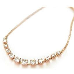 K18 天然 ダイヤモンド ブレスレット11粒デザイン ダイヤモンド 0.3ctSolitaire collectionK18イエローゴールドK18ピンクゴールドK18ホワイトゴールド
