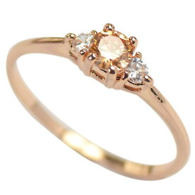 リング 指輪 レディース スワロフスキー トパーズ 誕生石 華奢 K18金RGP ピンクゴールド 金属アレルギー対応