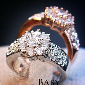 指輪 リング 雪華 豪華 スワロフスキー SWAROVSKI レディースアクセサリー あすつく K18RGP 彼女 女性 誕生日 プレゼント ギフト クリスマス 大人 可愛い 金属アレルギー