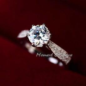 指輪 リング K18 若々しさと気品が漂うジュエリーダイヤモンドCZ彩石1.3ct リングK18RGP 彼女 女性 誕生日 プレゼント ギフト クリスマス 大人 可愛い おしゃれ 金属アレルギー