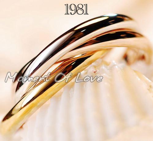 指輪 リング K18 知的な印象を醸し出す魅力的なアイテム/3連セット レディースアクセサリー 彼女 女性 誕生日 プレゼント ギフト クリスマス 大人 可愛い おしゃれ アクセサリー