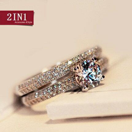 リング 指輪 レディース 女性 スワロフスキー K18RGP 結婚指輪 2点セット 大きいサイズ ゴールド ホワイトゴールド 7号〜19号