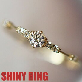 リング 指輪 レディース 女性 スワロフスキー 結婚指輪 K18金RGP イエローゴールド 2号〜22号 金属アレルギー