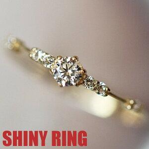 リング 指輪 レディース 女性 スワロフスキー 結婚指輪 K18金RGP イエローゴールド 7号〜19号