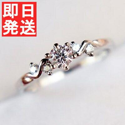 リング 指輪 レディース 女性 スワロフスキー 結婚指輪 K18金RGP 金属アレルギー ピンクゴールド ホワイトゴールド 4号〜19号