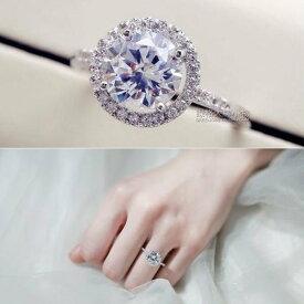 指輪 リング 煌き1.2ctダイヤモンドCZ彩石ジュエリーリングK18金RGP 金属アレルギー