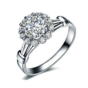 指輪 リング 太陽花 婚約指輪 結婚指輪 ピンキーリング 大きいサイズ スワロフスキー SWAROVSKI あす楽 K18 レディースアクセサリー 彼女 女性 誕生日 プレゼント ギフト クリスマス 大人 可愛い おしゃれ 金属アレルギー