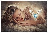 ネックレスハートスワロフスキーエンジェルSWAROVSKI天使羽あす楽プレゼントレディースアクセサリー彼女女性誕生日ギフトクリスマス大人可愛いおしゃれ金属アレルギー
