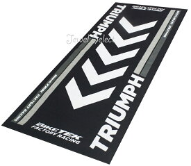 TRIUMPH トライアンフ バイクマット ガレージに お部屋のインテリアマットとしても 190cm×80cm
