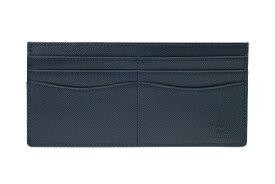 送料無料 薄型財布 さとりナチュラル 松阪牛革 HCK49D-Z 群青 ギフト対応