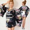 高等妓女禮服和服禮服浴衣禮服大人小型好處濃的高等妓女古裝戲服裝Jewel杰維爾褶邊小浴衣禮服