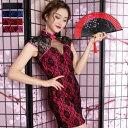 チャイナドレス ドレス チャイナ ミニ チャイナワンピース チャイニーズドレス チャイナ服 Jewel ジュエル レース