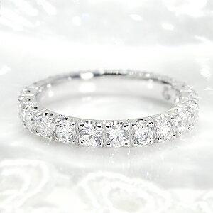 世界にひとつだけのリングをセミオーダーいたします。ジュエリー アクセサリー 【Hカラー・SIクラス】 リング プラチナ ダイヤモンド ダイヤ フルエタニティ 1.5カラット pt950 エンゲージリング 婚約 ブライダル エタニティ 記念日 プレゼント 品質保証書 刻印無料 SI