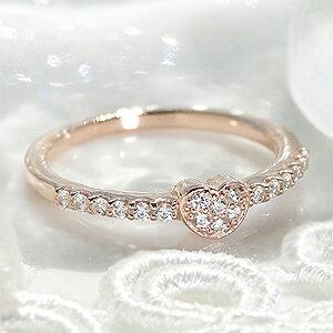 ピンクゴールド ダイヤモンドリング ジュエリー アクセサリー レディース 指輪 ダイヤモンド リング ピンクゴールド ダイヤ K18PG K18 パヴェ エタニティ 18金 ダイア 4月誕生石 送料無料 品質保証書付 ギフト プレゼント 刻印無料