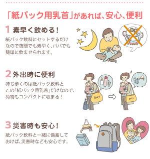 ジェクスチュチュ紙パック用乳首スリムタイプシリコーンゴム製1コ入日本製新生児から卒乳頃用ChuChu【HLS_DU】