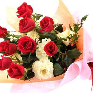 【紅白カラー・花束・ローズ】お祝い・お誕生日・結婚お祝・出産お祝・開店お祝・結婚記念日・お礼・発表会・季節のお花・お返しプレゼント・成人式・バレンタイン・ホワイトデー・退