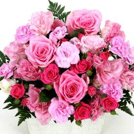 【ピンクカラー・アレンジ・ローズ】お祝い・お誕生日・結婚祝・出産祝・開店祝・結婚記念日・お礼・発表会・季節のお花・お返しプレゼント・成人式・バレンタイン・ホワイトデー・退職祝い・入学祝いなど。