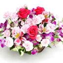 【ピンクカラー・アレンジ・バラ】お祝い・お誕生日・結婚お祝・出産お祝・開店祝・結婚記念日・お礼・発表会・季節のお花・お返しプレ…