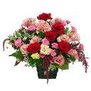 【赤・ピンクカラー・アレンジ・ローズ】お祝い・お誕生日・結婚祝・出産祝・開店祝・結婚記念日・お礼・発表会・季節のお花・お返しプ…