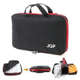 (返品保証) 日本メーカーのファスナーで衣類を50%圧縮 日本語説明書 LINEサポート 付き 圧縮旅行バッグ 持ち手付き ブラック 9L