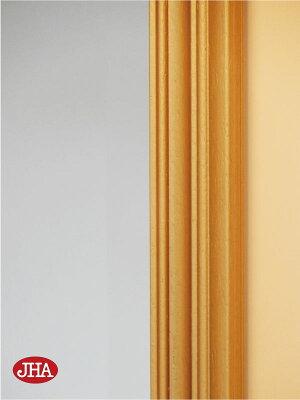 ≪新作≫【送料無料】壁掛け鏡ウォールミラー【イタリア製】【JHAアンティークミラー】シンプル(金運ゴールド)W474×H674(M)IE-114(デラックス:面取り加工)(オリジナル玄関洗面トイレ寝室ドレッサーリビング化粧鏡おしゃれ店舗)