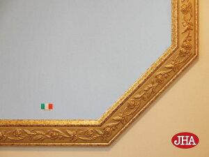 【JHAアンティーク風水ミラー】(エレガント・ピンク&ゴールド)八角形W495×H49