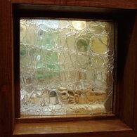 JHAクラックル(クリアー)・アートガラス145X145