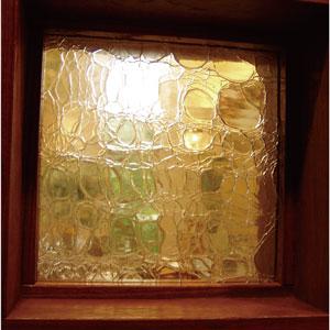 JHAクラックル(ライトアンバー)・アートガラス245X245