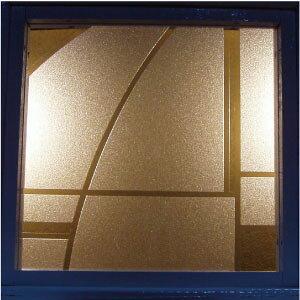 【JHAデザインガラス】 エッチングガラス(スリ) Mi-KS6-S 145X145ミリ【小窓用】(ガラスのみ)(おしゃれ 室内窓 小窓 FIX窓 ドア シンプル レトロ モダン 古民家 間仕切り壁 建具 キッチン リビング
