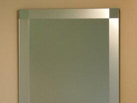 鏡 ミラー 壁掛け鏡 ウォール【JHAデザインミラー】 シンプル3 W500×H700【飛散防止・壁掛け用】【完全防湿】 EM-50X70TF-S3 フレームレスミラー ノンフレーム 化粧鏡 玄関 洗面 トイレ 寝室 おしゃれ ドレッサー モダン シンプル エッチング 四角
