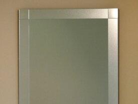 鏡 ミラー 壁掛け鏡 ウォール【JHAデザインミラー】 シンプル4 W500×H700【飛散防止・壁掛け用】【完全防湿】 EM-50X70TF-S4 フレームレスミラー ノンフレーム 化粧鏡 玄関 洗面 トイレ 寝室 おしゃれ ドレッサー モダン シンプル エッチング 四角