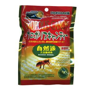 メール便対応 プロポリスキャンディー 自然派 80g (モンドセレクション ミツバチ 三温糖)