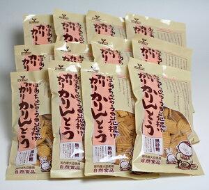 おばあちゃんのうの花揚げ カリカリかりんとう 黒砂糖 160g×12袋 (きらず揚げ 黒糖 まるも)