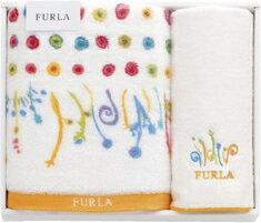【送料込み】【ポイント5倍】【送料無料】FURLA(フルラ) タオルセット(オレンジ)【出産内祝いギフトに最適です。】【出産祝い 返礼 お返し】【内祝い お返し】