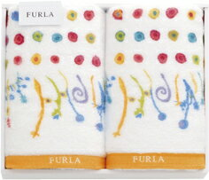 【送料込み】【ポイント5倍】【送料無料】FURLA(フルラ) フェイスタオルセット(オレンジ)【出産内祝いギフトに最適です。】【出産祝い 返礼 お返し】【内祝い お返し】