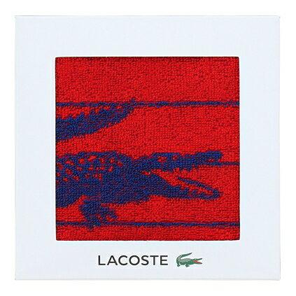【送料込み】【ポイント5倍】【送料無料】LACOSTE(ラコステ)Lエスポワールウォッシュタオル(レッド)【出産内祝いギフトに最適です。】【出産祝い 返礼 お返し お祝いのお返し】