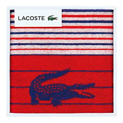 【送料込み】【ポイント5倍】【送料無料】LACOSTE(ラコステ)Lエスポワールスポーツタオル(レッド)【出産内祝いギフトに最適です。】【出産祝い 返礼 お返し お祝いのお返し】