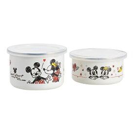 【送料込み】【ポイント5倍】【送料無料】Disney(ディズニー)ミッキー&ミニーホーロー容器セット【出産内祝いギフトに最適です。】【内祝い お返し】【出産祝い 返礼 お返し お祝いのお返し】
