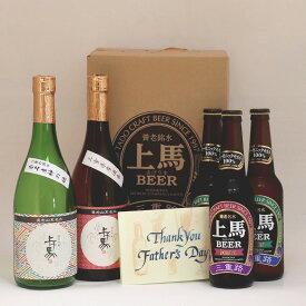 ☆父の日スペシャル☆ 【送料無料】無添加 上げ馬 地酒・地ビールHDセット メッセージカード可
