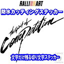 the spirit of Competition 防水ステッカー