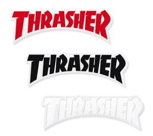 スラッシャー ステッカー ブランド かっこいい おしゃれ アウトドア アメリカン スケボー スケートボード ストリート 車 バイク スーツケース カーステッカー アメリカン雑貨 THRASHER DIE CUT LO