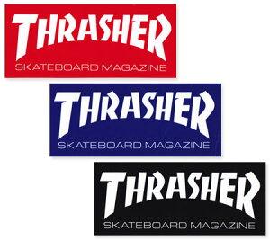 スラッシャー ステッカー ブランド かっこいい おしゃれ アウトドア アメリカン スケボー スケートボード ストリート 車 バイク スーツケース カーステッカー アメリカン雑貨 THRASHER LOGO BIG