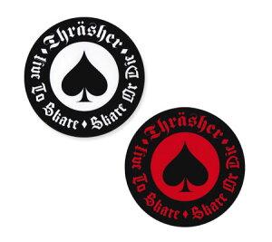 スラッシャー ステッカー ブランド かっこいい おしゃれ アウトドア アメリカン スケボー スケートボード ストリート 車 バイク スーツケース カーステッカー アメリカン雑貨 THRASHER SPADE 【