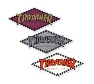 スラッシャー ステッカー ブランド かっこいい おしゃれ アウトドア アメリカン スケボー スケートボード ストリート 車 バイク スーツケース カーステッカー アメリカン雑貨 THRASHER DIAMOND